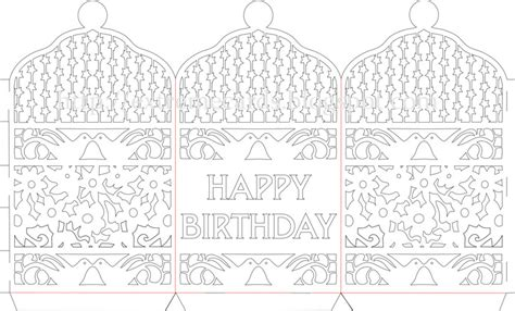 paper cards cut template happy birthday paper cut lantern tutorial