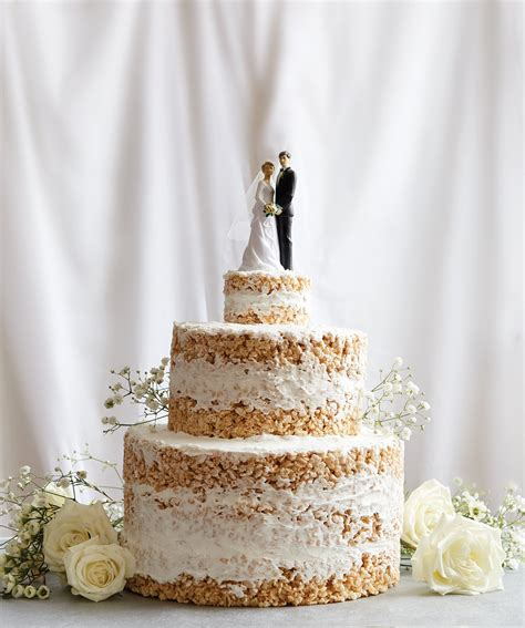 wedding cake ingredients list no bake rice krispies wedding cake recipe popsugar food