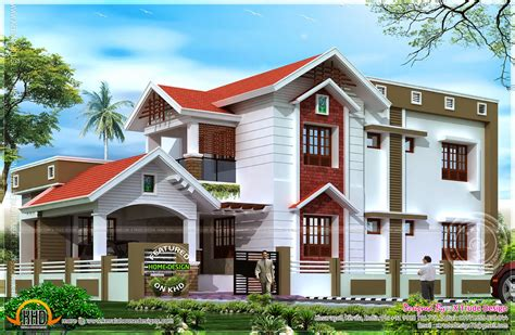 nice house designs 2401 square feet nice house renderings kerala home