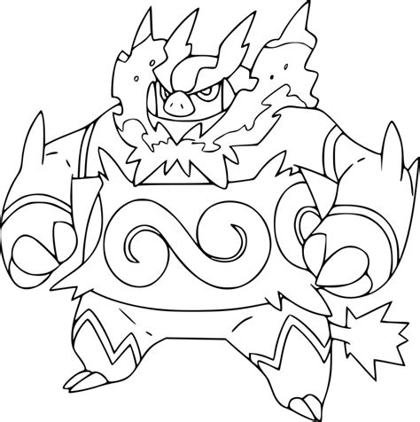 pokemon coloring pages emboar pokemon emboar coloring page