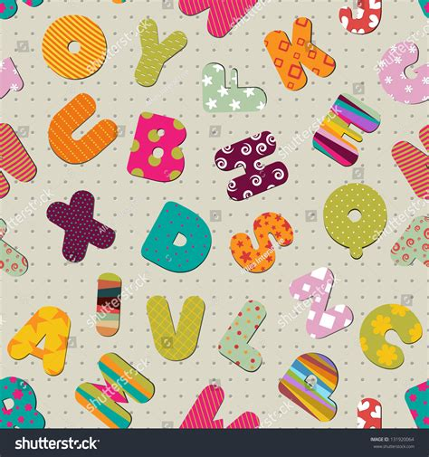 image pattern english colorful seamless pattern with english letters alphabets