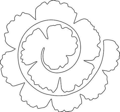 Rolled Paper Flower Pattern | rolled flower flower craft and cricut