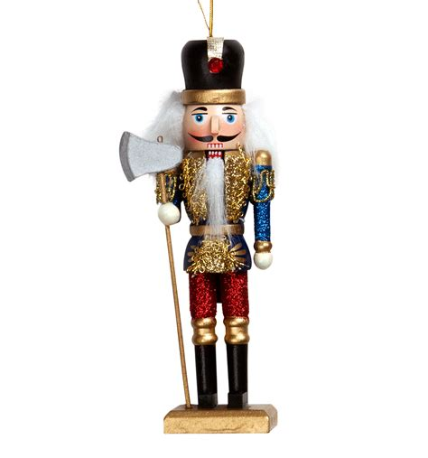 glitter wooden nutcracker ornament discountdance com