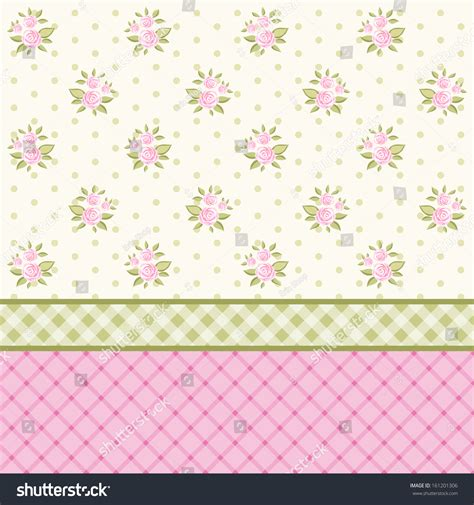 Wallpaper Stiker Motif Shabby Chic vintage floral background pink roses shabby stock illustration 161201306