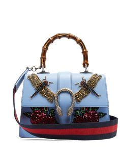 Gucci Garden Dionysus Bamboo Br003 gucci wreathed with embroidered floral appliqu 233 s the gucci sylvie top handle bag from gucci