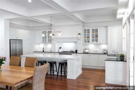 Home Decorating Magazines Australia All White Kitchen Beauty Completehome
