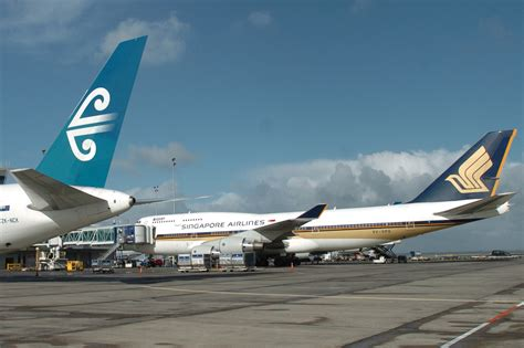 Air Singapore singapore airline and air new zealand form alliance