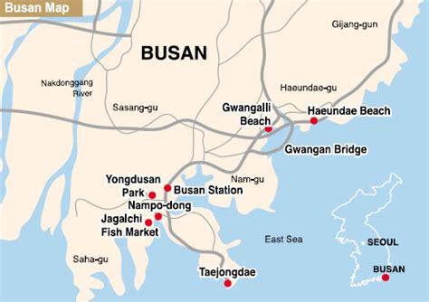 pusan on map pusan map and pusan satellite image