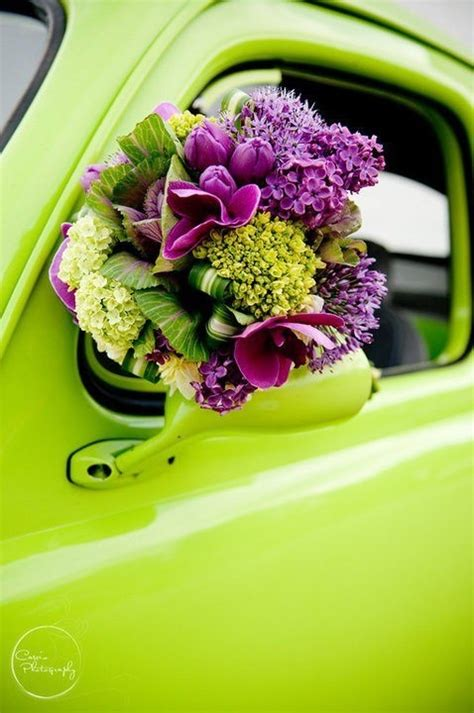 chartreuse and purple fave color combo my style