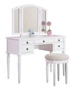 Makeup Vanity For Toddlers Vanity Set For Table Stool Chair 3 Mirror Bedroom Makeup Drawer White Ebay