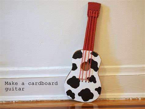 How To Make A Guitar Out Of Paper - make a cardboard guitar pink stripey socks