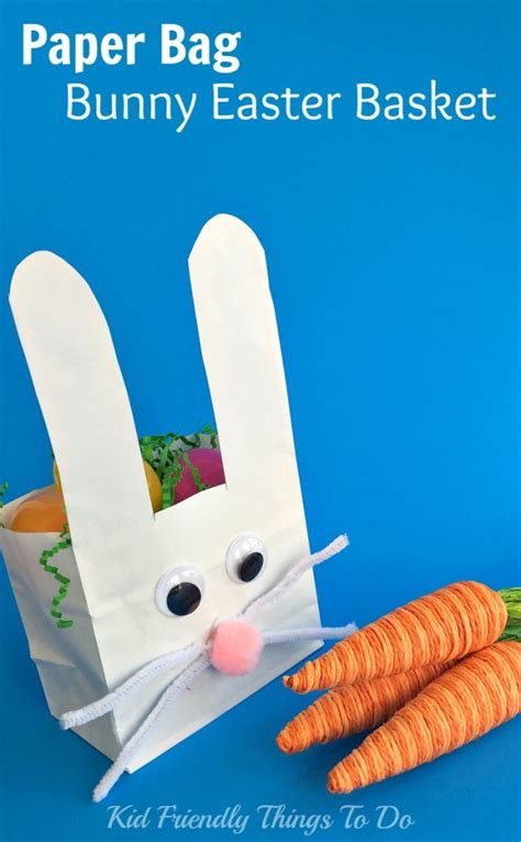 Paper Bag Bunny Craft - paper bag bunny easter basket craft for kid