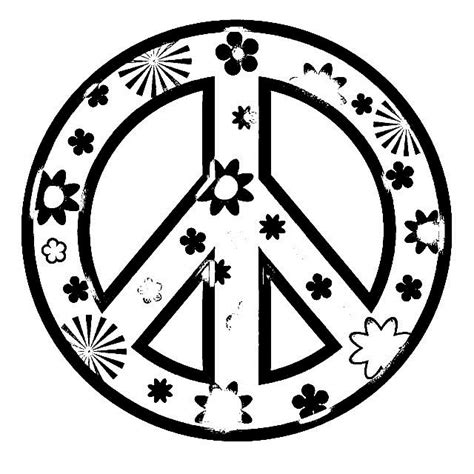 color for peace peace sign coloring pages for printable coloring pages