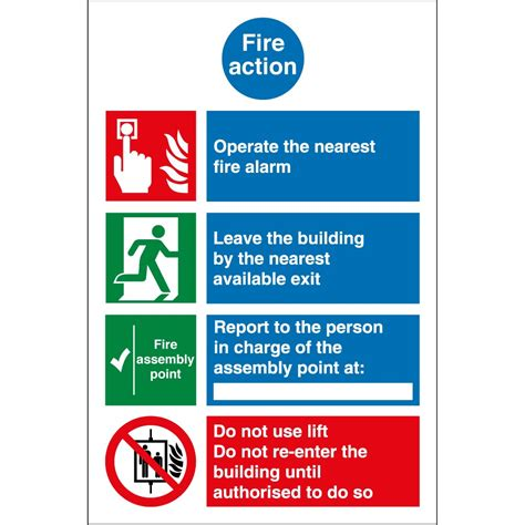 fire action notice signs from key signs uk