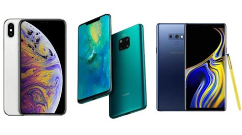 huawei mate 20 pro vs iphone xs max vs samsung galaxy note 9 price specifications compared