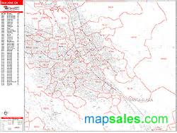 San Jose Zip Code Map by San Jose California Zip Code Wall Map Red Line Style By