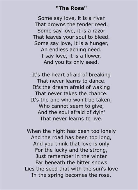 Lyrics Or The Rose   White Gold