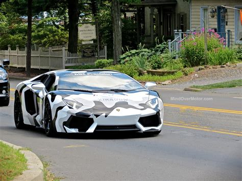 camo lamborghini aventador camo lambo aventador spotted in new hope pa mind over motor