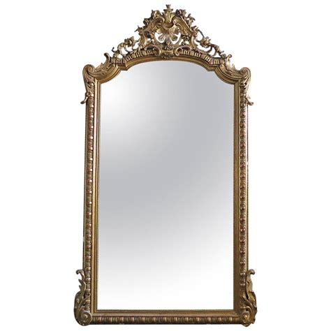 large antique french gold gilt mirror at 1stdibs