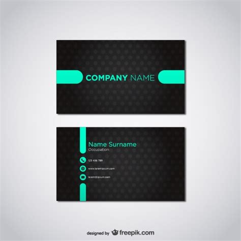 Business Card Templates Free Vector by 20 Free Business Card Design Templates From Freepik
