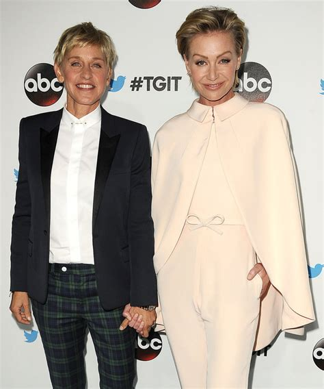 degeneres and portia degeneres and portia de celebrate 8th