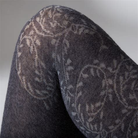 ivy pattern tights essex ee legs gipsy cotton ivy over knee look pattern tights