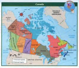 detailed political and administrative map of canada with