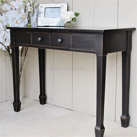 black console table seconds bliss  bloom