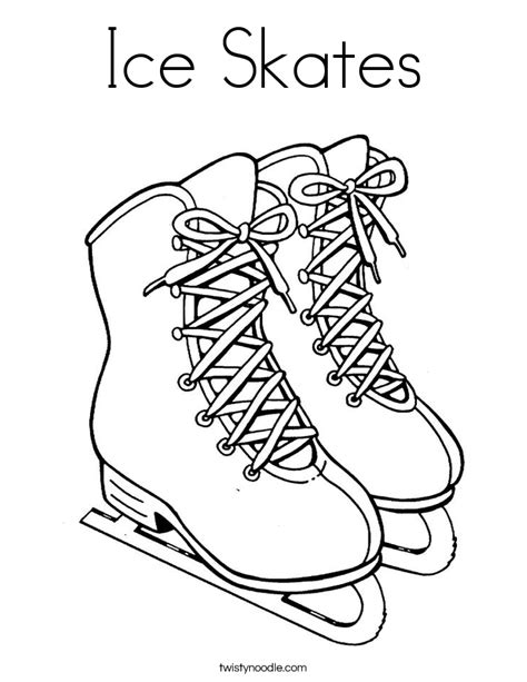 ice skates coloring page twisty noodle