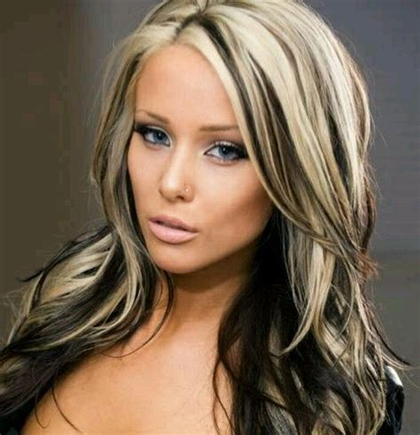 hairstyles with thick highlights 12 edgy chic black and blonde hairstyles thick blonde