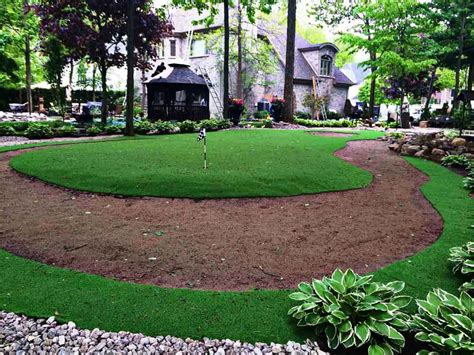 installing turf in backyard backyard putting green with artificial grass artificial