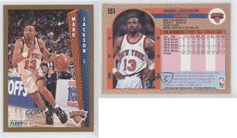 mark jackson new york knicks 1992 93 fleer 151 mark jackson new york knicks basketball
