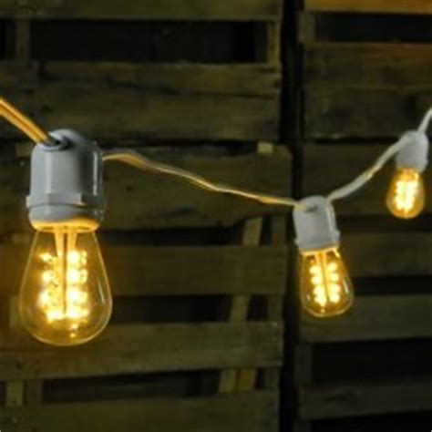commercial led edison string lights 50 warm white bulbs white wire patio lawn