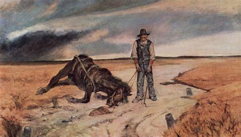 Größte Pferd Der Welt by Giovanni Fattori Bauer Mit Zusammengebrochenem Pferd