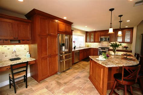 kitchen ideas with cherry cabinets kitchen walnut kitchen cabinets 109 kitchen color