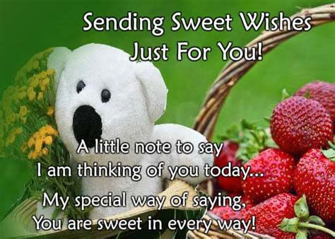 cute teddy wishes  thinking   ecards greeting cards