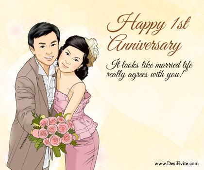 Marriage Anniversary Image For Chacha And Chachi by Happy Lovely 1st Anniversary Greetings Nicewishes