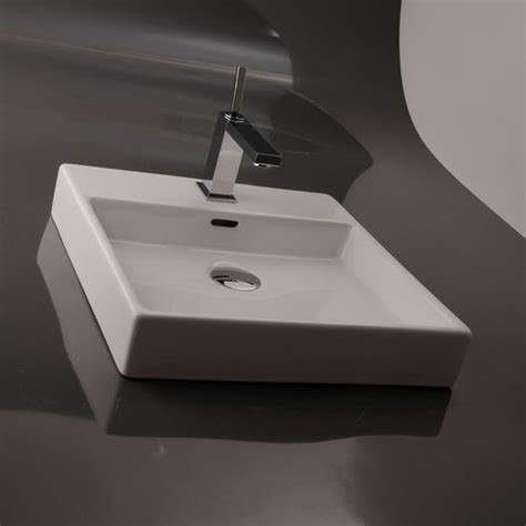 High End Vessel Sinks by Modern High End Simplistic Square Ceramic Bathroom Vessel