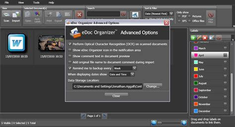 Windows Document Organizer edoc organizer