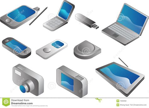 gadgets on electronic gadgets stock photography image 1055502