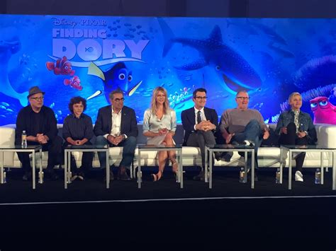 cast of with a a talk with the cast of finding dory laughingplace