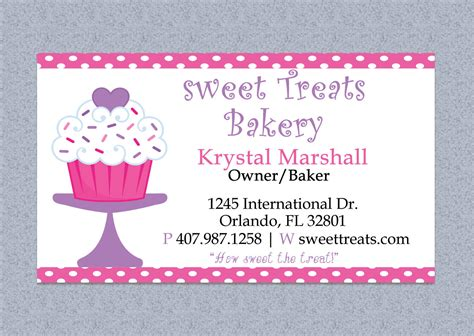 Polka Dot Bakery Business Card Design Editable By Mydiydesigns Bakery Business Card Template
