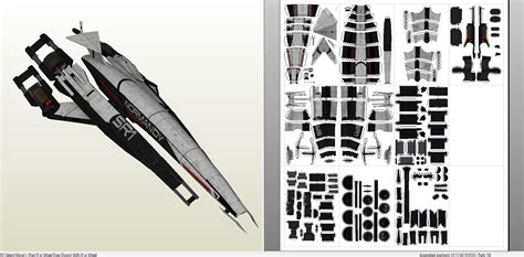 Mass Effect Papercraft - papercraft pdo file template for mass effect ssv