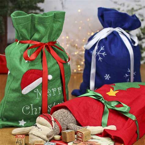 felt christmas gift santa bag gift bags favor bags