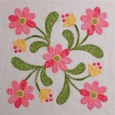 flower applique flower applique quilt patterns images