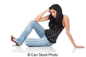 ragazze sedere angolo tristezza sedendo ragazza pavimento