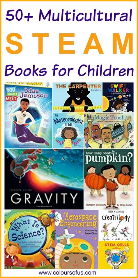 steam books 50 multicultural steam books for children colours of us
