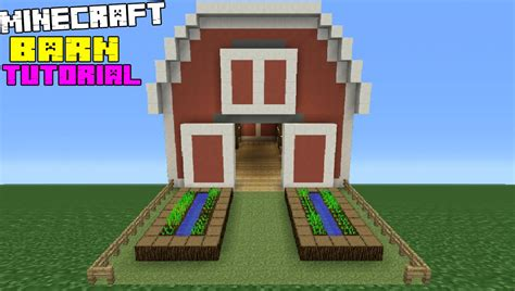 scheune in minecraft minecraft tutorial how to make a barn