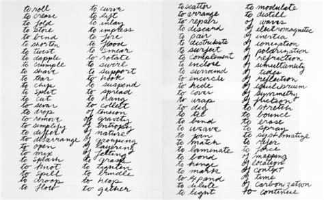 richard serra s verb list 1967 68 unprofessional