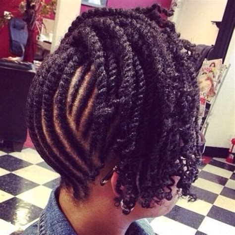 mwahahwk hairstule done using kinky mohawk kinky twists hairstyles braided mohawk with kinky